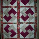 baby quilt card tricks pattern 33 inches by 60 inches handmade