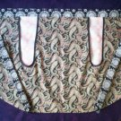 handmade apron paisley fabric