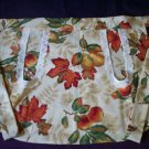 fall leaves fruit fabric handcrafted apron