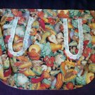 apron veggie fabric plus 3 hot pads handcrafted