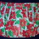 apron Christmas poinsettia fabric