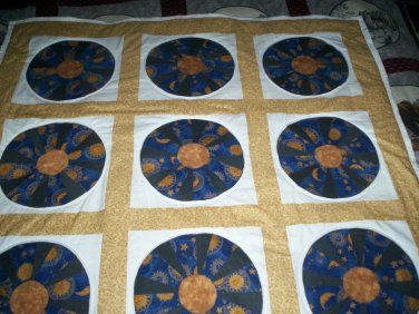 lap quilt handmade zodiac 48 by 48 inches
