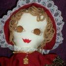 prairie girl doll handmade wild flower tan hair 19 inches tall handcrafted