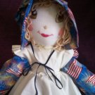she is a Yankee doddle dandy cuddle up cutie doll 21 inches tall