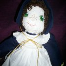 prairie baby doll brown hair green eyes  21 inches tall handcrafted