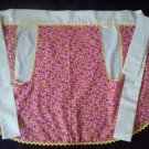 tulips on pink apron