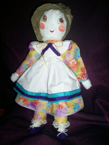 handmade doll 20 inches tall spring flower