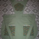 olive green full apron