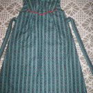 little girl jumper handmade dress light teal tiny red and blue flowers
