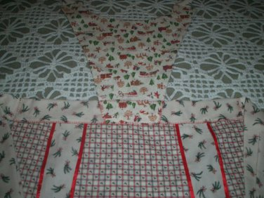 apron Christmas season handmade one size fits all