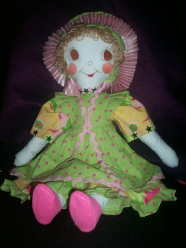 baby doll prairie girl flower dress one of a kind 21 inches tall