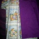 teddy bear dress with purple jacket teddy bear lining handmade
