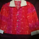 floral red tint of pink girl shirt handmade