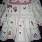 white floral size 5 play dress handmade