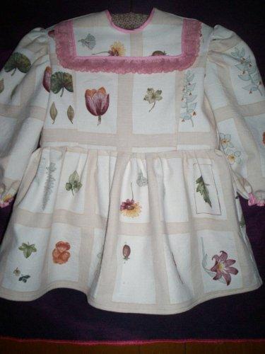 white floral play dress handmade