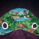 puppy dog jacket the outdoors eagle bears wolfs buffalo mountains and streams handcrafted