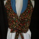 teen wrap around miss size 12 handmade wild flowers on black