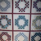 baby or lap quilt 9 block double irish chain handmade 57 inches by 56 inches