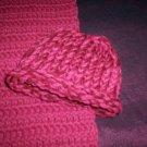 preemie crochet blanket plus 1 knitted winter hat handmade