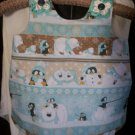 toddler sundress or top winter wonderland penguin polar bears size 2T handmade