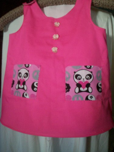 toddler sundress or top hot pink size 2T handmade
