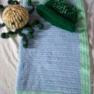 preemie crochet blanket plus 1 knitted winter hat toy octopus handmade