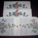 set of 2 wild rose pillowcases with dresser scarf table runner vanity scarf