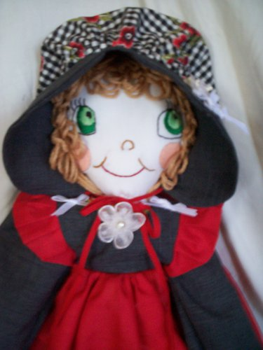 country cloth doll 21 inches tall handmade sunbonnet sue