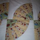 grandmothers fan baby wrap handmade quilt size 46 x 46 handcrafted
