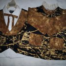 brother sister matching outfit classy black and gold black lining handmade