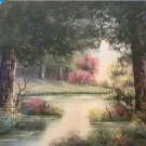 "ORIGINAL OIL PAINTING - ""FOREST LAKE"" BY BETTY L. WALT"""