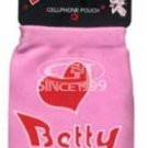 Betty Boop Cell Phone Pouch - Pink Name