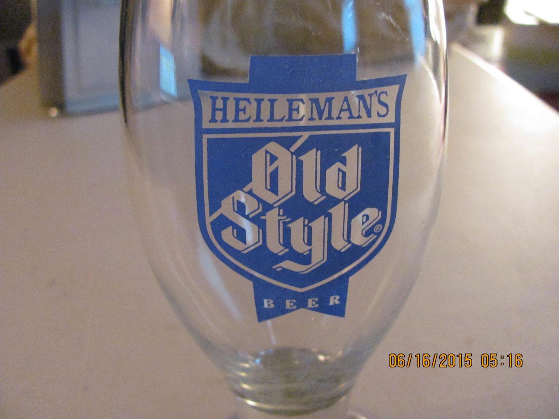 Vintage Heilemans Old Style Beer Glasses