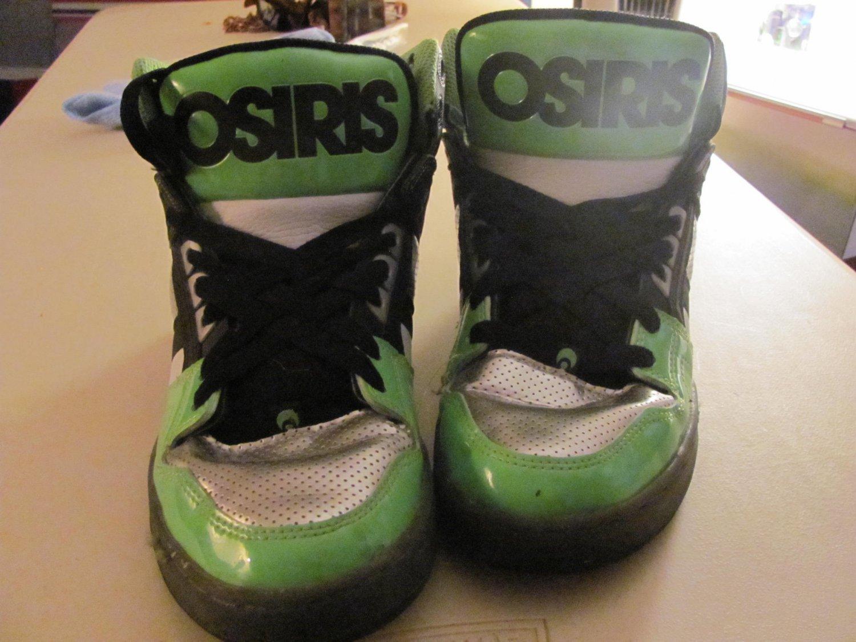 Osiris Mens Neon Green/Silver Shoes