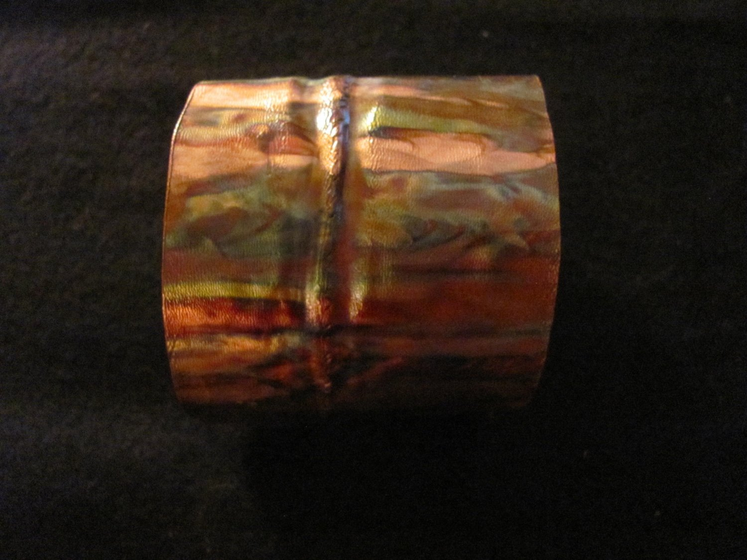 Copper Works Flamed Colored Folded Copper Bracelet Cuff