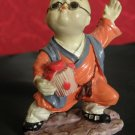 Japanese Boy Very Nice Vintage Porcelain Clay Figurine Collectible Rare