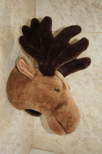 """Hunter's Trophy Soft Toy Elk's Head Beauty Home Decor Wall Hanging Holland 16"""""""