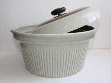 "Lapid Israel Mid Century Modern Stoneware Covered Ceramic Pottery Glazed Pot 12"""