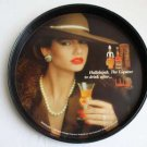 "Tin Advertising Tray, Hallelujah, The Liqueur to drink after 12"" diameter rare"