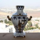 Soviet Handpainted Gzhel Porcelain Collectible Art Figurine Box Samovar USSR 8""