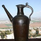 "Large and Heavy Gorgeous Antique 19th Islamic Persian 12"" Copper Water Jug Pot"
