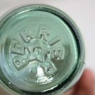 Rare Vintage Collectible Perrier Light Green Glass Bottle France Stamped w/ Star