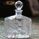 Vintage Echt Bleikristall Gepresst W Germany Crystal Parfume Bottle w/  Stopper