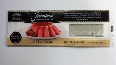 5 Gelatin Sheets Transparent Ideal for Cakes Sweets Desserts Bakery 9g=0.3oz