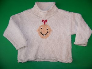 Suss Design Smiley Baby Sweater