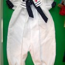 Rare Editions White Collared Romper 24m
