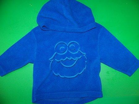 Cookie Monster Fleece Hoodie - 12m