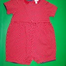 Baby Gap Red Stars Romper - 2yrs