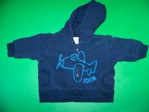 """3M Cherokee Baby """"Zoom"""" Blue Airplane Hoodie Jacket"""