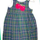 4T Kelly's Kids Plaid Apple Jumper